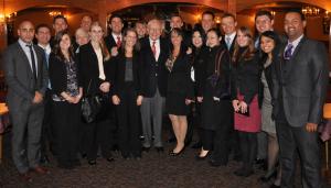 Investor Warren Buffet with DePaul MBA students