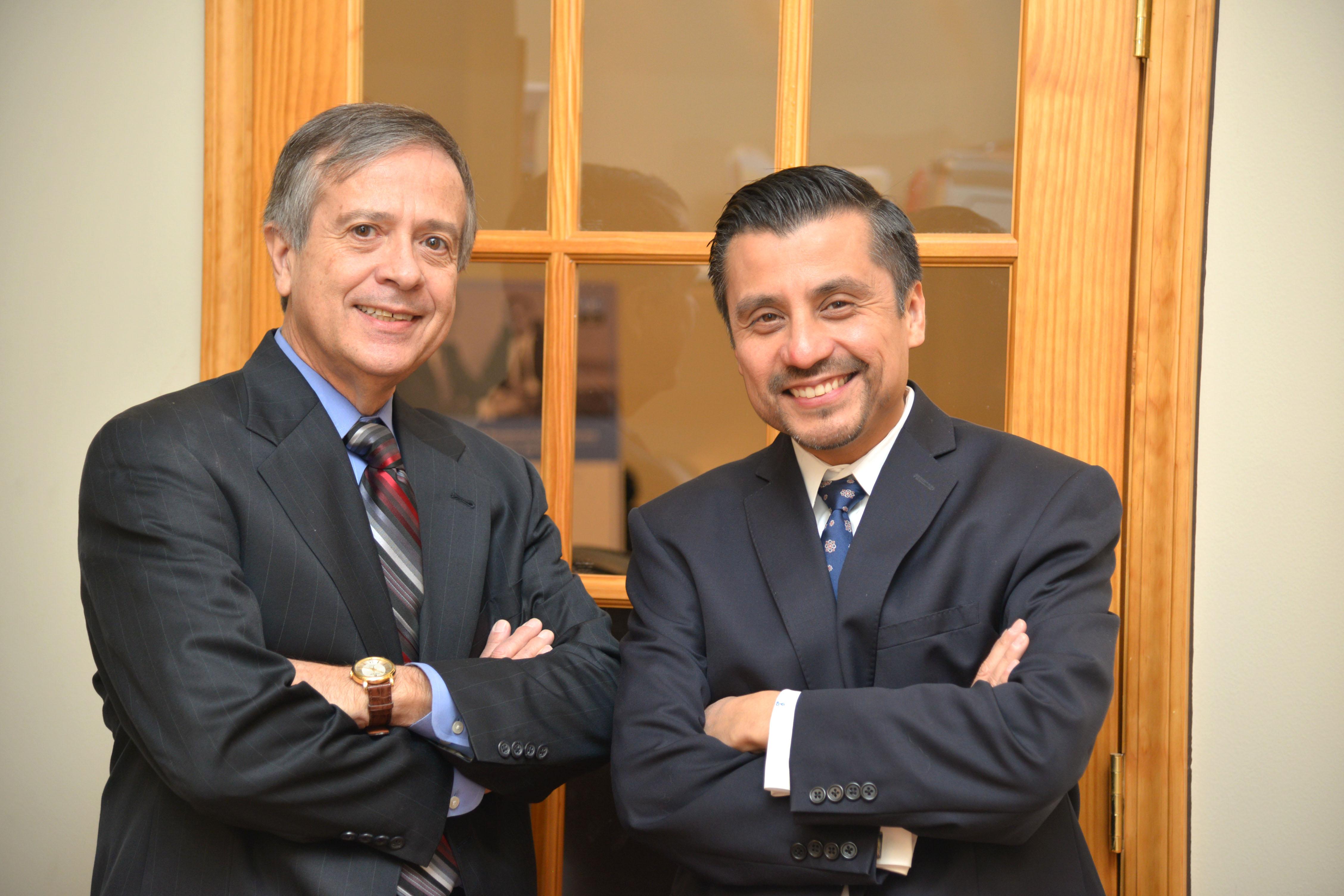 Alumni business partners Enrique Lopez and Julio Rodriguez.